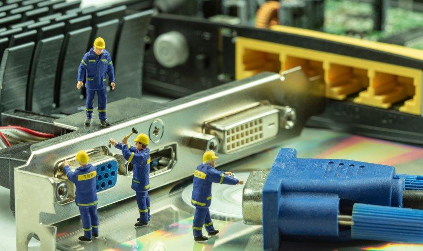 PC Repair Technicians at work